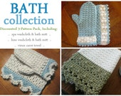 Bath Collection: 3 Crochet Patterns for the Bath