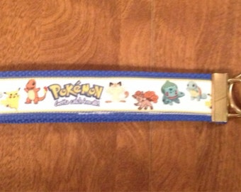 Pokemon wristlet key fob holder keychain