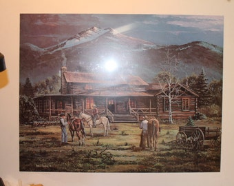 Tom Dooley Litho Print Limited Edition 660 of 950 and Signed by Tom Dooley
