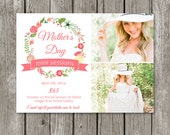 Mother's Day Mini Session Template Marketing Board - Mom & Me Session Advertising Flyer for Photographers - Spring Floral Flower Bridal-MS03