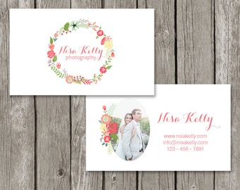 Floral business card template fbccfo Images