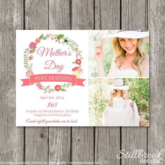 Mothers Day Storewide Sale Template: Mother's Day Mini Session Template Marketing Board Mom