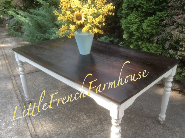Custom Built Farmhouse Table Harvest Table GORGEOUS Pine top