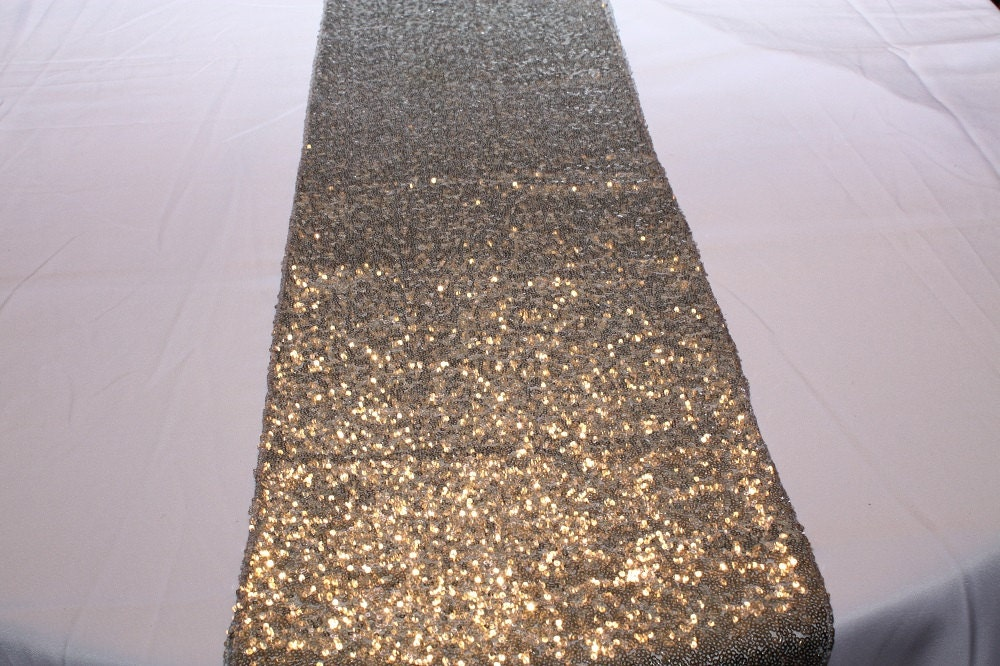 Details. Gorgeous, shiny silver table runners are pure sparkly ... - Silver Sequin Table Runner Metallic Silver Sequin Runner