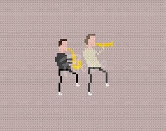 You Can Call Me Al - Paul Simon - Chevy Chase - Cross Stitch Pattern (PDF) - INSTANT DOWNLOAD