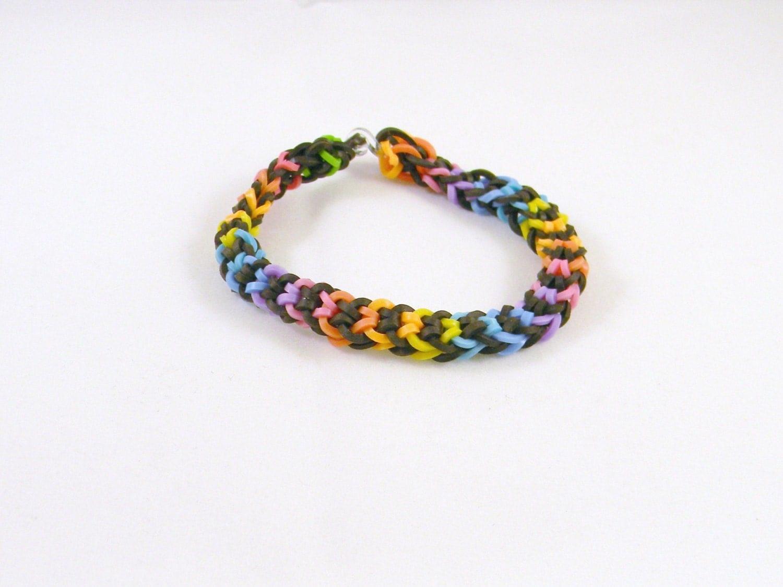 rubber band inverted fishtail bracelet rainbow loom bracelet