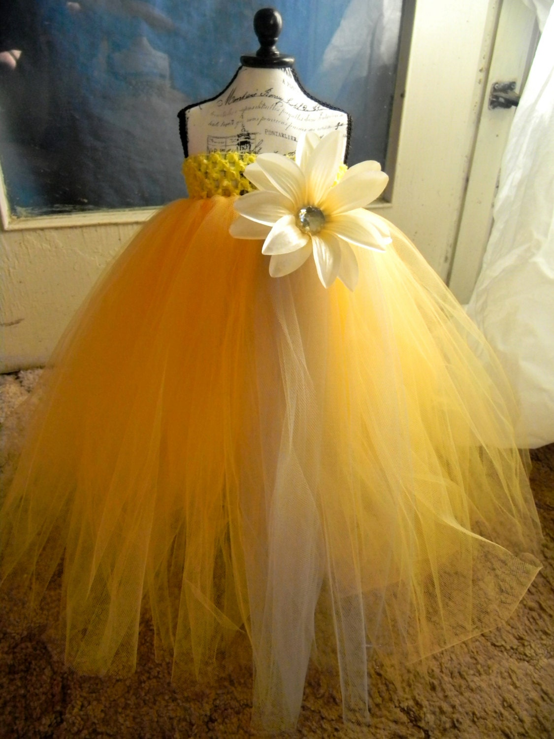 Yellow Flower Girl Dress Baby Tutu by Sapphire51Tutus on Etsy