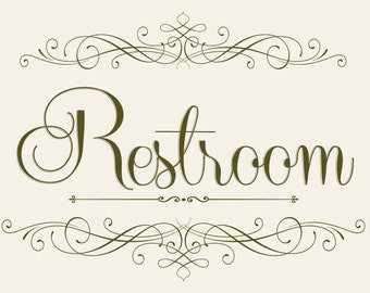 Bathroom Signs Printable washroom | etsy