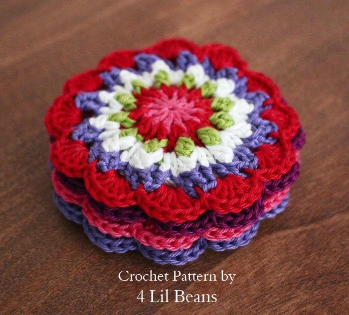 Crochet Pattern Crochet Coaster Pattern Crochet Christmas
