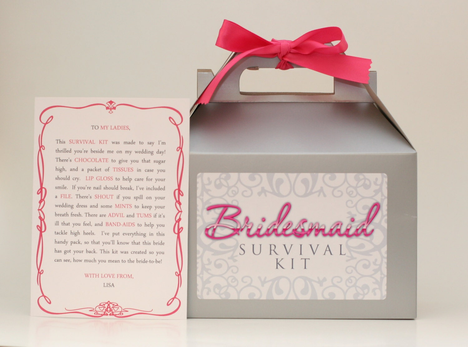 DIY Bridesmaid Amp Maid Of Honor Emergency Survival Kit Gift Box
