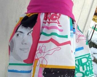 NEW Kids ON the Block TuTu Skirt Shirt Any Size from repurposed fabric