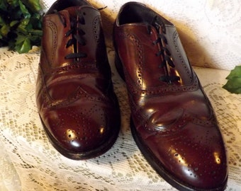 Hanover Oxblood Brogue Wing Tip Mens Shoes Size 11 EEE