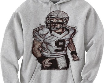 Drew Brees Officially Licensed NFLPA New Orleans Saints Hoodie S-3XL Drew Brees