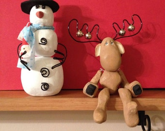 Christmas Moose and Snowman!