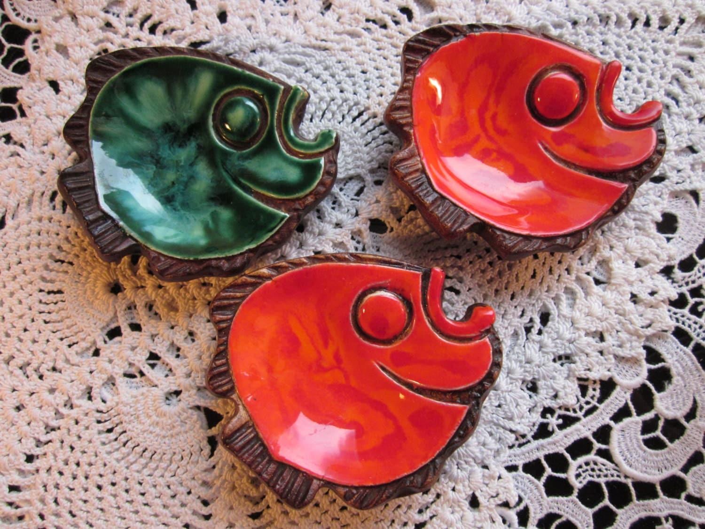 Vintage hawaiian fish tea bag holders hawaii by for Fish tea bags