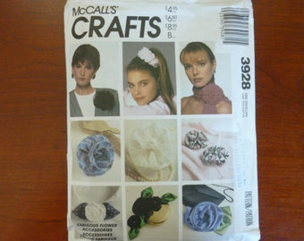 Fabulous Flower Accessories pattern by Mccall's #3928