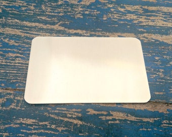 """Aluminum wallet card 2 1/16"""" x 3 3/8"""" Stamping Blanks - Qty 5"""