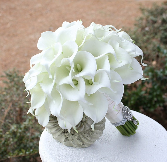 Elegant White Bridal Bouquet : Etsy your place to buy and sell all things handmade