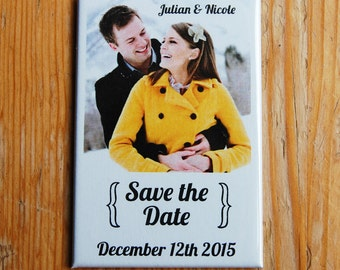 Custom Save the Date  Magnets - Magnet Buttons  2x3