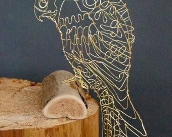 Sculptural Wird Bird Drawing of a KESTREL