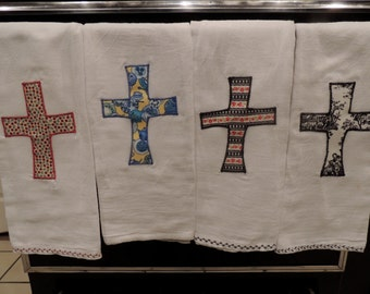 Cross dish towels.  Several different patterns to choose from!
