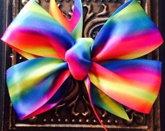 Satin Rainbow Hair Bow