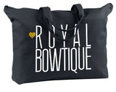 Royal Bowtique Classic Canvas Zipper Tote in Black & White.