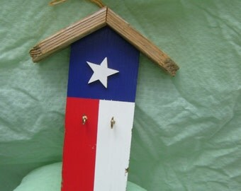 Texas Key Holder With Roof