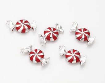 Candy Red Epoxy Pendant Polished Rhodium Plated - 1 Pieces [TT0059-PRRD]
