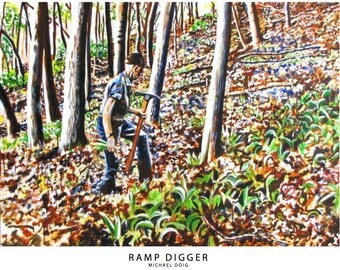 Print of Ramp Digger Painting from The Appalachia Series by Michael Doig