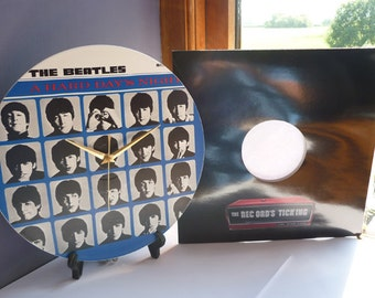 A Hard Day's Night - The Beatles -  12″ LP Vinyl Record Wall Clock