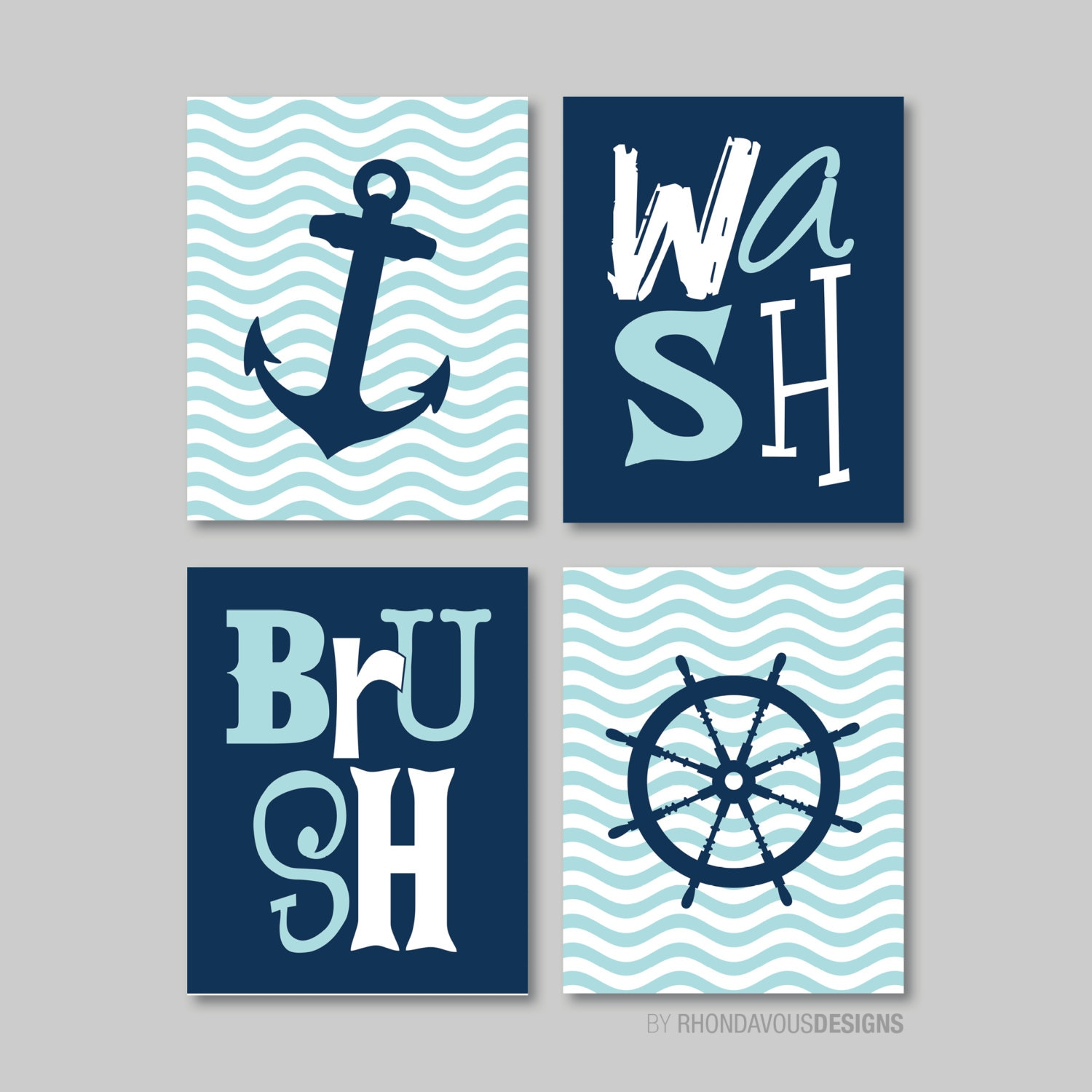 Nautical bathroom print art bathroom decor bathroom art for Art for bathroom ideas