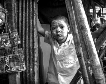 Photography - Travel - Burma - Art - Black and White - Children