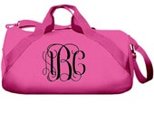 Personalized Pink Duffel Bag - Sleepovers or Practice - Barrel Duffle, Sports Bag, Gym Bag, Bridesmaid Gifts, Kids Gifts  FREE SHIPPING