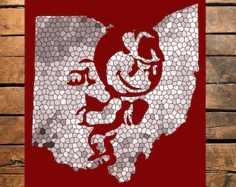 Ohio State Brutus Mosaic Digital Print