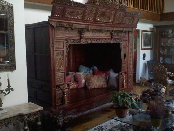 Antique Bed: Items Similar To Antique Vintage Exquisite Carved Chinese