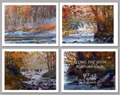 Along the Path -  Set of 6 NOTE CARDS - Watercolor Paintings by Linda Henry (NCWC059)