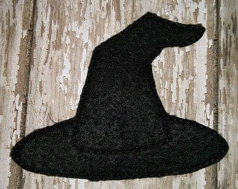 2 Halloween Oversized Witch Hat Glitter Feltie Felt Embellishment Bow! Felties Applique Party