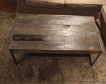 The Horizontal - Distressed Wood with Nail Heads Coffee Table