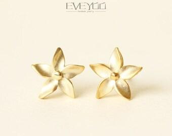 Flowers stud Earrings, Sterling silver Flower stud Earrings,Flower Earrings,pinwheel,Mother gift
