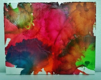 Melted Crayon Art Color Rage Three