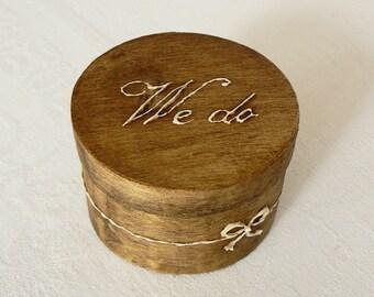 Ring Bearer with fast shipping, Wedding Ring Box, Engagement Ring Box, Wood Ring Box, Wedding Ring Holder, Ring Bearer Box, Ring Box