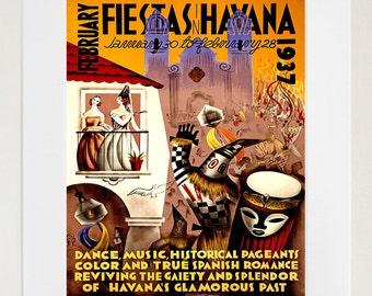 Travel Poster Cuba Art Print Havana (TR93)