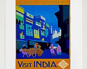 India Art Wall Decor Travel Poster Print Vintage (ZT228)