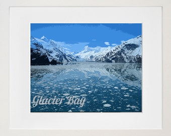 Glacier Bay National Park Poster Travel Art Print Home Decor (ZB8)