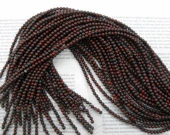 6mm mahogany obsidian round beads, 15.5 inch