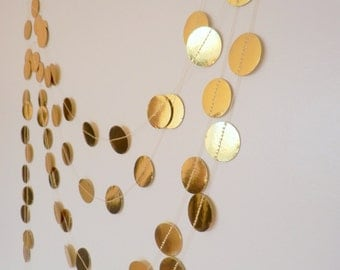 Shimmer Garland,Holiday Garland, Gold Garland