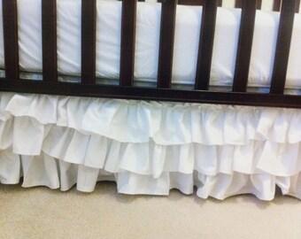 CUSTOM RUFFLE Crib Skirt (3 Layer)