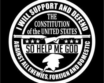 Military Oath Decal