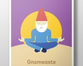 Gnomeaste Poster - Purple (18x24)